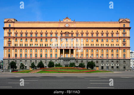 The Lubyanka Building (former headquarters of the KGB and affiliated prison) in Moscow, Russia - Stock Photo
