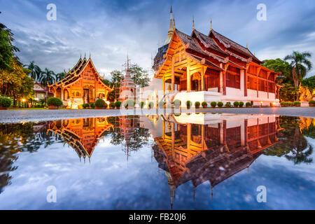 Wat Phra Singh in Chiang Mai, Thailand. - Stock Photo