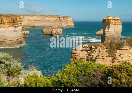 View at Razorback, Great Ocean Road, Victoria, Australia - Stock Photo