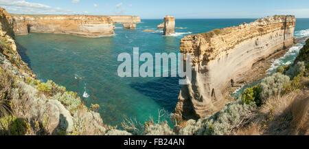 Razorback Panorama, Great Ocean Road, Victoria, Australia - Stock Photo