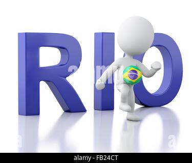 3d renderer image. Brazil 2016 concept. Isolated white - Stock Photo