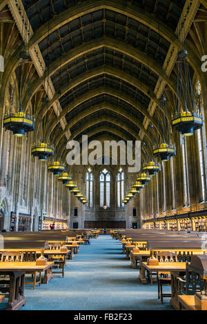 Graduate Reading Room in the Suzzallo Library, University of Washington, Seattle, Washington, USA - Stock Photo