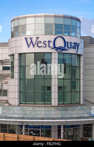 West Quay Shopping Centre, Southampton, Hampshire, UK - Stock Photo