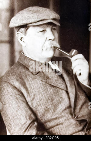 Sir Arthur Conan Doyle (1859-1930) British writer and creator of fictional detective Sherlock Holmes photographed - Stock Photo