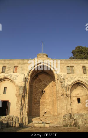 Israel, Lower Galilee, the Crusader Church of St. Anne in Zippori - Stock Photo