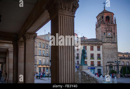 Plaza de Andalucia, in background Torre del Reloj. Úbeda. Jaén province. Spain - Stock Photo