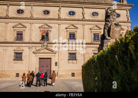 Palacio de las Cadenas, 16th century, by architect Andrés de Vandelvira, now Town Hall,plaza Vazquez de Molina, - Stock Photo