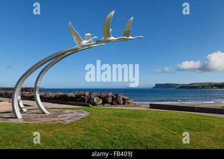 Ballycastle seafront, Co. Antrim, Northern Ireland - Stock Photo