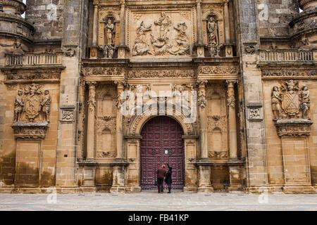 Facade of Sacra capilla del Salvador,Church of the Salvador (16th century) in Plaza de Vázquez Molina, Úbeda. Jaén - Stock Photo