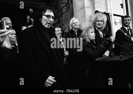 Blue Plaque Event In Cirencester 7/1/2016 To Commemorate Cozy Powell Drummer With Legendary Rock Groups With Dr - Stock Photo