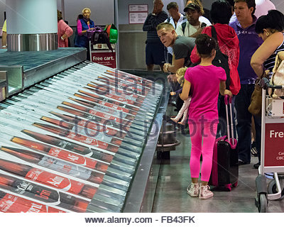 Coca Cola advertisement in luggage conveyor belt at Pearson International Airport in Toronto,Canada - Stock Photo