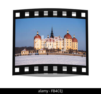 Moritzburg Castle near Dresden, administrative district Meissen, Saxony, Germany, Europe - Stock Photo