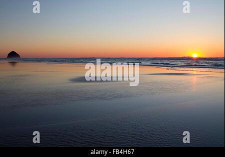 Sunset at Tierra Del Mar, Oregon, U.S.A. - Stock Photo