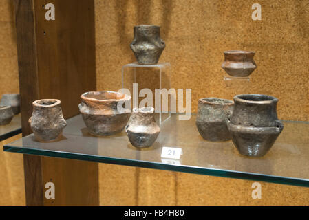 Room from the Bronze Age, National Archaeological Museum of Cagliari, Sardinia - Stock Photo