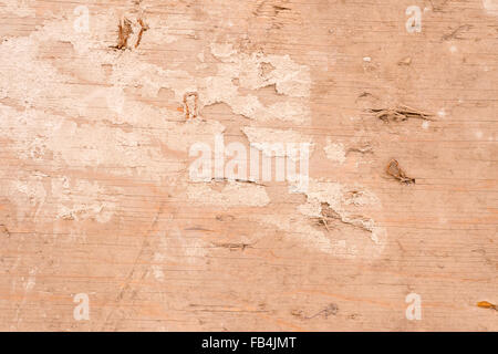 'Gold sand' painted wooden surface with cream color stains - Stock Photo