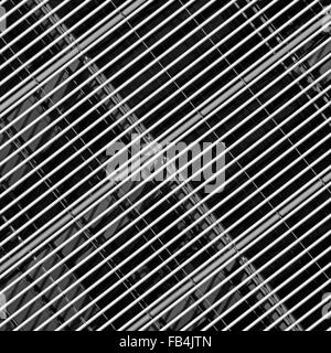Abstract grid pattern part of modern building architecture on office block façade London England UK - Stock Photo
