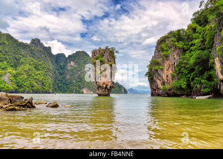 View of nice tropical island in summer environment - Stock Photo