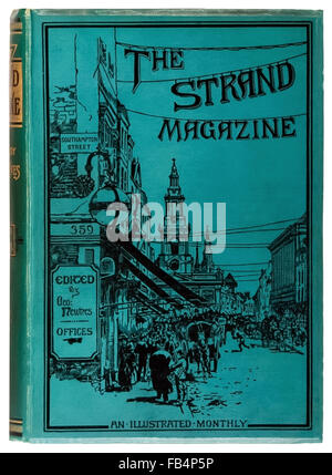 'The Strand Magazine: An Illustrated Monthly' bound volume 1891 featuring the first six stories of Adventures of - Stock Photo