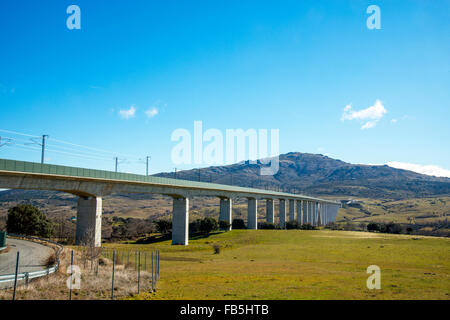 Arroyo del Valle viaduct. Soto del Real, Madrid province, Spain. - Stock Photo