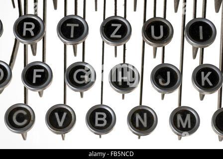 Keys of an old typewriter - Stock Photo