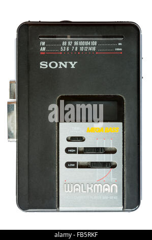 A Sony Walkman radio cassette player WM-BF40 - Stock Photo