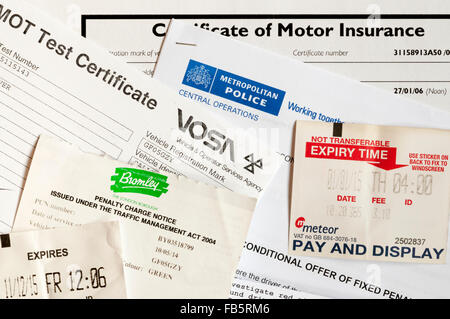 The costs and expenses of motoring, driving and car ownership. - Stock Photo