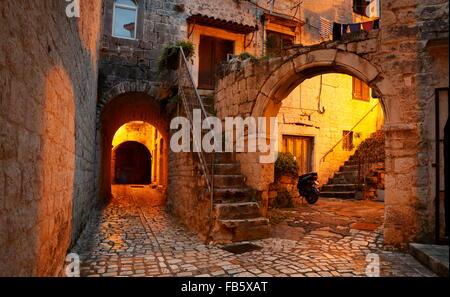 Trogir by night, Croatia