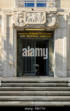 London School of Hygiene and Tropical Medicine, Keppel St, London, WC1E 7HT. - Stock Photo