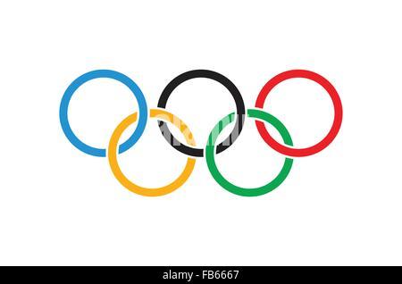 Flag of Ukraine with olympic symbol Stock Photo, Royalty Free ...