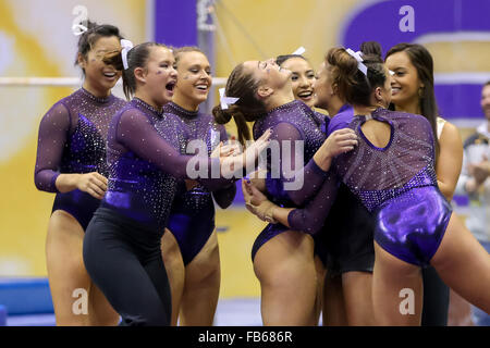 purple and gold lsu gymnastics meet