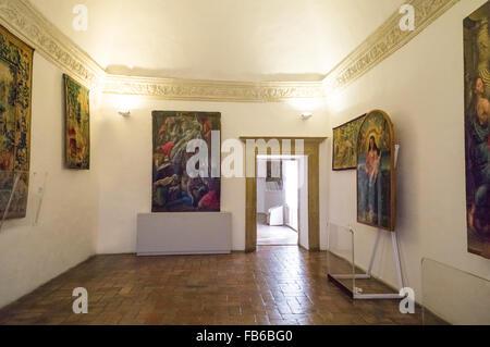 Italy, Marche region, Urbino, the Ducal Palace built by Federico Da Montefeltro - Stock Photo