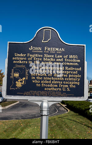 JOHN FREEMAN  (Continued from other side)  Under Fugitive Slave Law of 1850, seizure of free blacks and freedom - Stock Photo