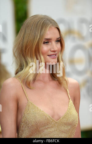 Los Angeles, California, USA. 10th January, 2016. Rosie Huntington-Whiteley arrives at the Golden Globes, Los Angeles, - Stock Photo