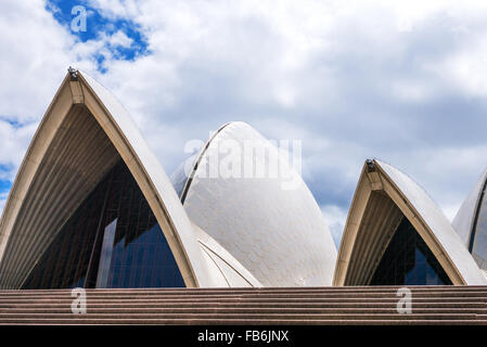 Australia, Sydney, architectural detail of the Opera House - Stock Photo