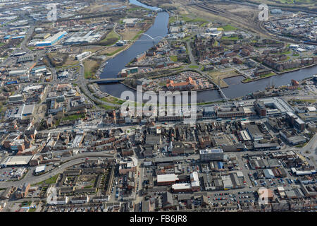 General views of Stockton on Tees from the West Stock Photo