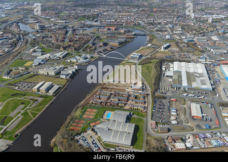 A general aerial view of Stockton on Tees from the East