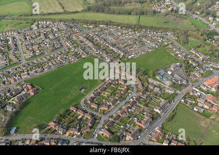 An aerial view of the Dalesforth area of Sutton in Ashfield, Nottinghamshire - Stock Photo