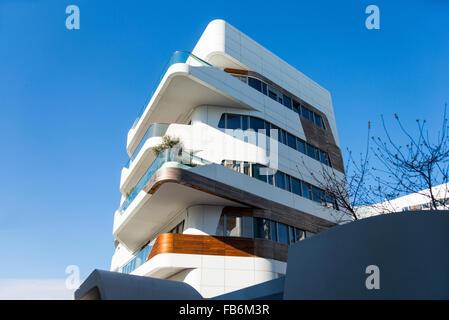 Italy, Milan, City Life, the Hadid Residences - Stock Photo