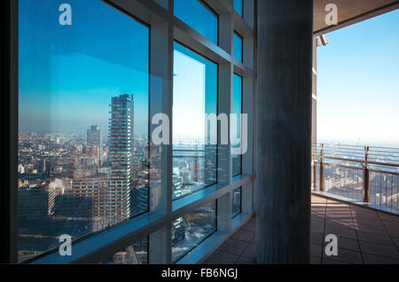Italy, Milan, Porta Nuova, panoramic view from the Unicredit tower inside - Stock Photo