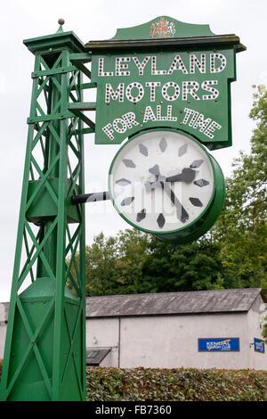 The Leyland Motors Clock, Brewery Arts Centre, Highgate, Kendal, Cumbria, England, UK. - Stock Photo