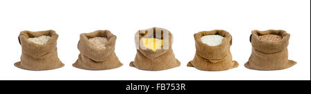 grain in sacks the isolated - Stock Photo