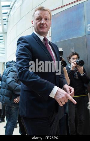 Duesseldorf, Germany. 11th Jan, 2016. Dusseldorf, Germany. 11th January, 2016. Ralf Jaeger, interior minister of - Stock Photo
