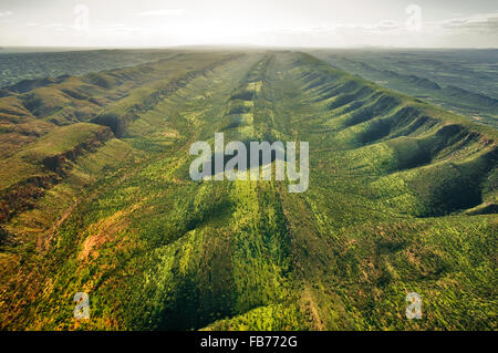 Aerial of Western MacDonnell Ranges. - Stock Photo