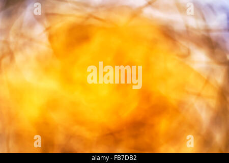 Abstract yellow blurred background - Stock Photo