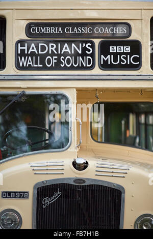 BBC Music day 'for the love of music'  Hadrian's Wall of Sound 2015 at Bowness on Solway marshes   1959/1973 New - Stock Photo