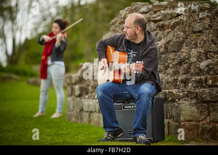 BBC Music day 'for the love of music'  Hadrian's Wall of Sound 2015 at Banks East Turret at the wall  sound festival - Stock Photo
