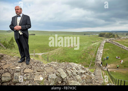 BBC Music day 'for the love of music'  Hadrian's Wall of Sound 2015 at            Cawfield Quarry Crag  Graeme Danby - Stock Photo