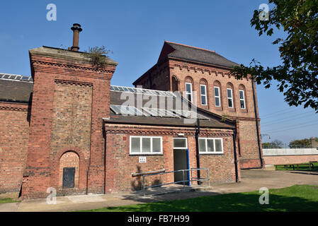 The Marine Engine House at Walthamstow Reservoirs  London Borough of Walthams Forest, England Britain UK - Stock Photo