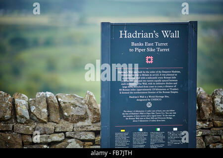 BBC Music day 'for the love of music'  Hadrian's Wall of Sound 2015 at sign for  from Banks East in Cumbria is the - Stock Photo