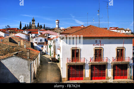 Almeida historical village and fire station in Portugal - Stock Photo